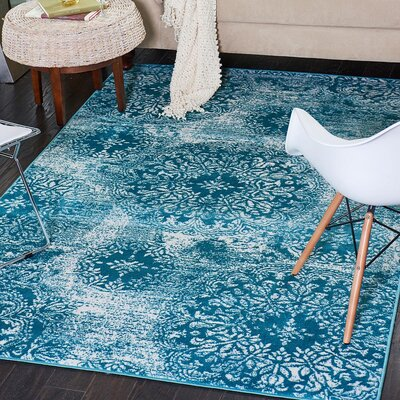 Ford Turquoise Indoor Area Rug