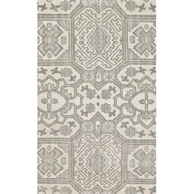 Janelle Hand-Knotted Graphite Area Rug Rug Size: Rectangle 2' x 3'