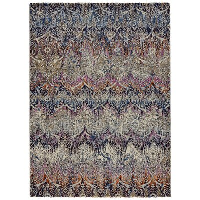 Nolan Magenta/Sunset Area Rug Rug Size: Rectangle 710 x 1010