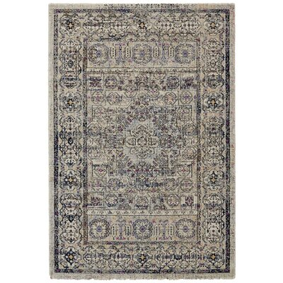 Nolan Vanilla/Ice Area Rug Rug Size: Rectangle 53 x 77