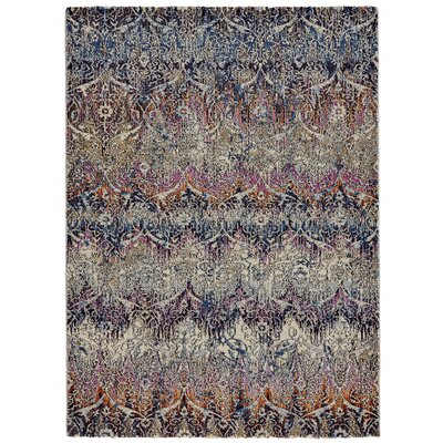 Nolan Magenta/Sunset Area Rug Rug Size: Rectangle 53 x 77