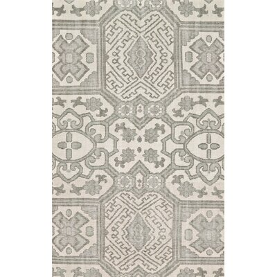 Janelle Hand-Knotted Graphite Area Rug Rug Size: Rectangle 96 x 136