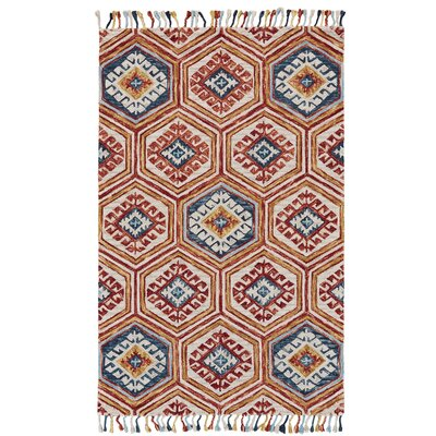 Fairhaven Hand-Tufted Gold/Orange Area Rug Rug Size: Rectangle 36 x 56