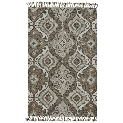 Fairhaven Hand-Tufted Ivory/Gray Area Rug Rug Size: Rectangle 36 x 56