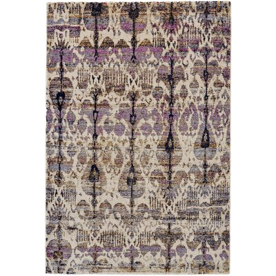 Nolan Magenta/Vanilla Area Rug Rug Size: Rectangle 53 x 77