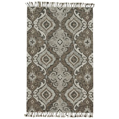 Fairhaven Hand-Tufted Ivory/Gray Area Rug Rug Size: Rectangle 5 x 8