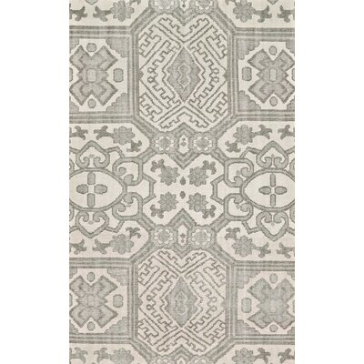 Janelle Hand-Knotted Graphite Area Rug Rug Size: 4 x 6