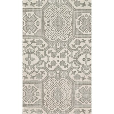 Janelle Hand-Knotted Graphite Area Rug Rug Size: Rectangle 56 x 86