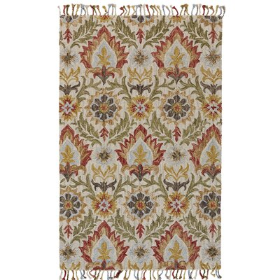 Fairhaven Hand-Tufted Golden/Olive Area Rug Rug Size: Rectangle 2 x 3