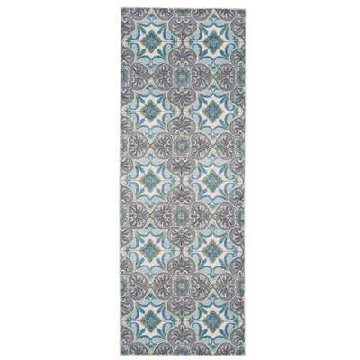 Grimes Sea Glass Area Rug Rug Size: Runner 21 x 71