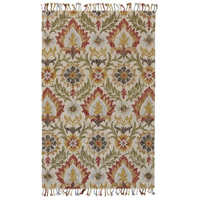 Fairhaven Hand-Tufted Golden/Olive Area Rug Rug Size: Rectangle 36 x 56