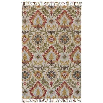 Florence Hand-Tufted Golden/Olive Area Rug Rug Size: 36 x 56
