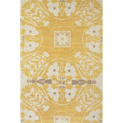 Mikonos Hand-Loomed Yellow Area Rug Rug Size: Rectangle 4 x 6