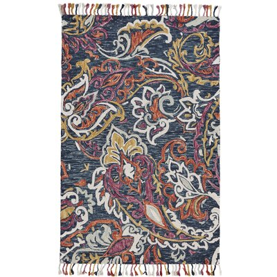 Fleurette Hand-Tufted Orchid/Blue Area Rug Rug Size: Rectangle 36 x 56