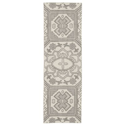Janelle Hand-Knotted Graphite Area Rug Rug Size: Runner 26 x 8
