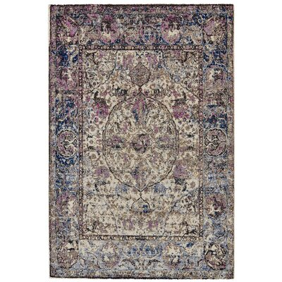 Nolan Midnight/Magenta Area Rug Rug Size: Rectangle 53 x 77