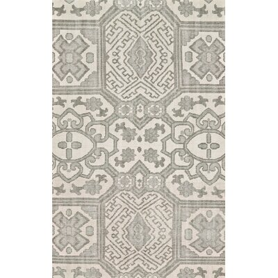 Janelle Hand-Knotted Graphite Area Rug Rug Size: Rectangle 86 x 116
