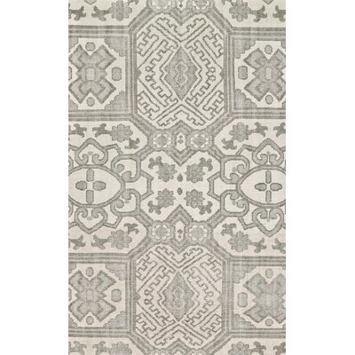 Janelle Hand-Knotted Graphite Area Rug Rug Size: Rectangle 79 x 99