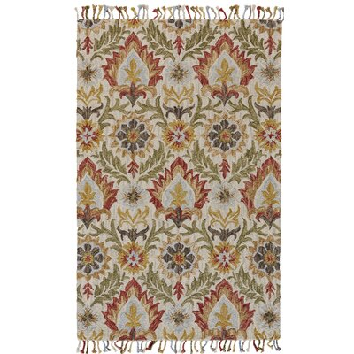 Fairhaven Hand-Tufted Golden/Olive Area Rug Rug Size: Rectangle 8 x 11