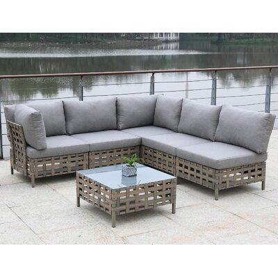 Alvinston 6 Piece Sectional Seating Group with Cushion