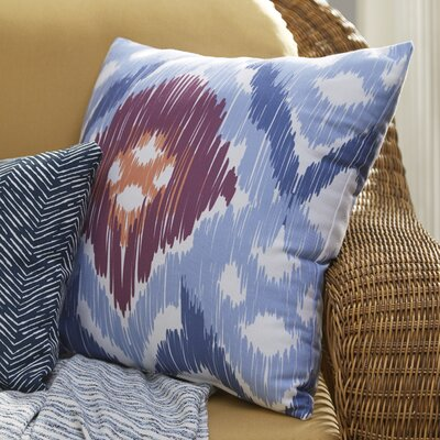 Eudora Original Outdoor Throw Pillow Size: 18 H x 18 W, Color: Blue/Purple