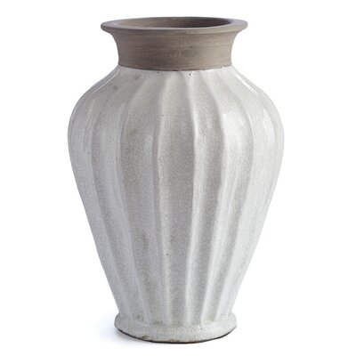 Cara White Ceramic Table Vase