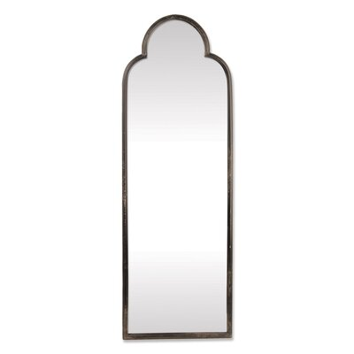 Arch/Crowned Top Black Metal Wall Mirror