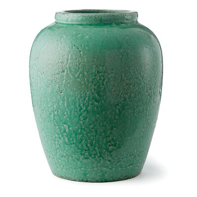 Grangeville Ceramic Urn Planter Color: Green