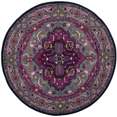 Marco Hand-Tufted Area Rug Rug Size: Round 5 x 5