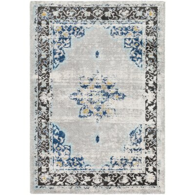 Ingram Dark Blue/Aqua Area Rug Rug Size: 2 x 3