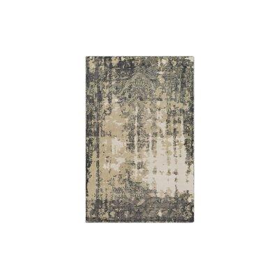 Gulshan Hand-Knotted Navy/Medium Gray Area Rug Rug Size: 6 x 9