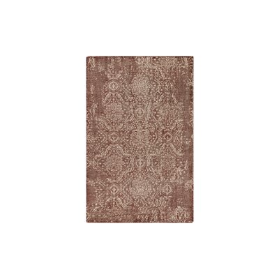 Jayden Hand-Knotted Dark Red/Khaki Area Rug Rug Size: 9 x 13