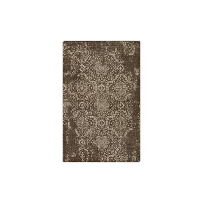 Gulshan Hand-Knotted Dark Brown/Khaki Area Rug Rug Size: Rectangle 6 x 9