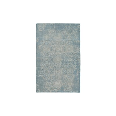 Gulshan Hand-Knotted Denim/Khaki Area Rug Rug Size: 6 x 9