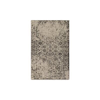 Gulshan Hand-Knotted Black/Khaki Area Rug Rug Size: 9 x 13