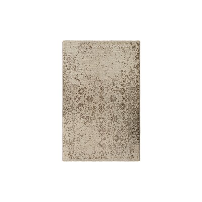 Jayden Hand-Knotted Dark Brown/Khaki Area Rug Rug Size: 6 x 9