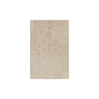 Gulshan Hand-Knotted Khaki Area Rug Rug Size: 9 x 13