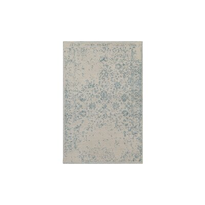 Gulshan Hand-Knotted Denim/Khaki Area Rug Rug Size: Rectangle 6 x 9