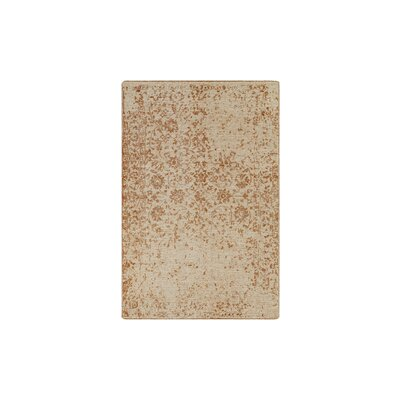 Jayden Hand-Knotted Burnt Orange/Cream Area Rug Rug Size: 6 x 9