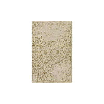 Gulshan Hand-Knotted Olive/Khaki Area Rug Rug Size: 6 x 9