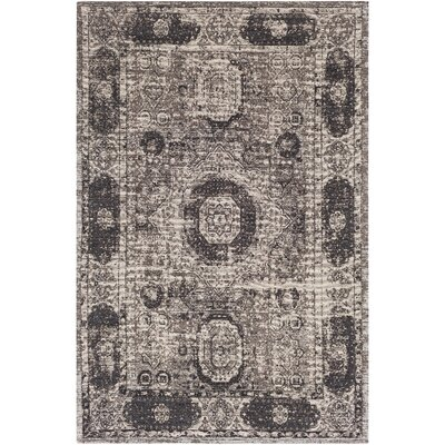 Hamza Hand-Woven Dark Brown/Charcoal Area Rug Rug Size: Rectangle 5 x 76