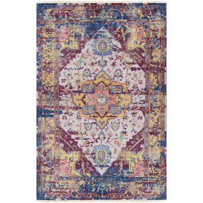 Makenna Hand-Knotted Eggplant/Lilac Area Rug Rug Size: Rectangle 9 x 13