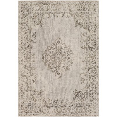 Payne Hand-Woven Beige/Light Gray Area Rug Rug Size: Rectangle 2 x 3
