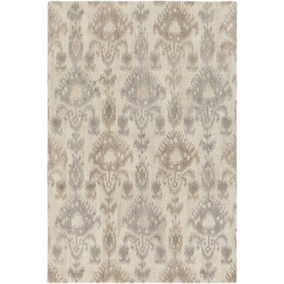 Lewis Hand-Tufted Cream/Taupe Area Rug Rug Size: Rectangle 2 x 3
