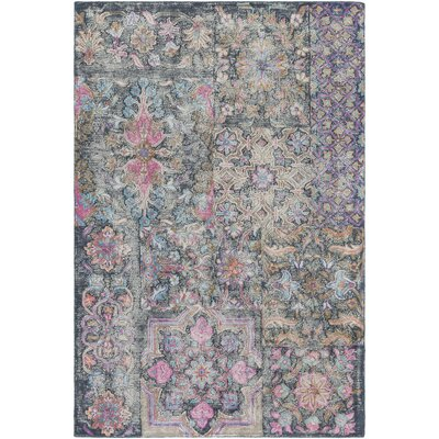 Knowland Hand-Tufted Bright Pink/Blush Area Rug Rug Size: Rectangle 5 x 76