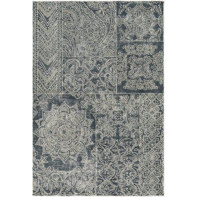 Knowland Hand-Tufted Navy/Cream Area Rug Rug Size: 2 x 3