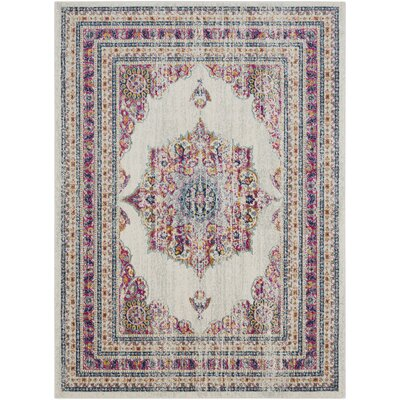 Southwick Garnet/Cream Area Rug Rug Size: Rectangle 93 x 126