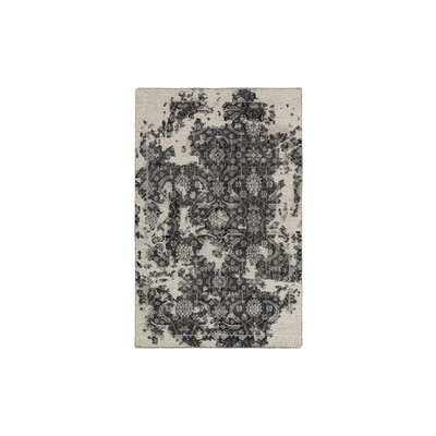 Gulshan Hand-Knotted Black/Beige Area Rug Rug Size: Rectangle 6 x 9