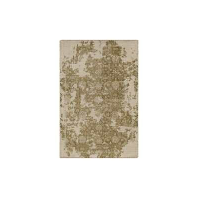 Gulshan Hand-Knotted Olive/Beige Area Rug Rug Size: 6' x 9'