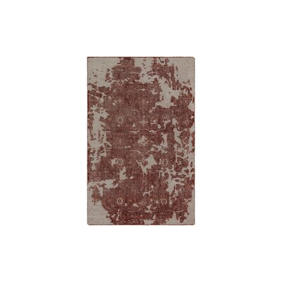 Jayden Hand-Knotted Coral/Dark Red Area Rug Rug Size: 6 x 9